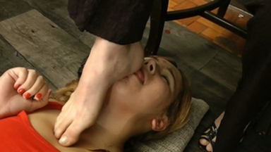 FIGHTING GIRLS / Face Slapping And Foot Fetish By Celine And Blonde Lemos