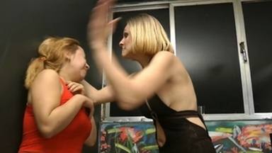 Face Slapping And Foot Fetish By Celine And Blonde Lemos