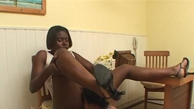 LESBIAN / Ass Licking - Laura And Slave Julia