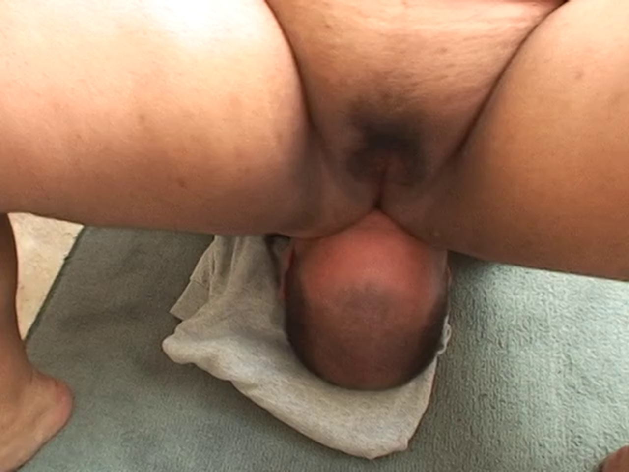 Bent over pussy close up