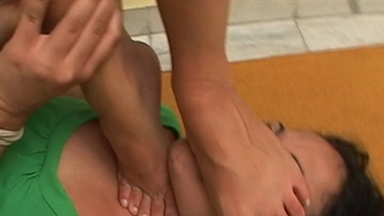 FOOT FETISH / Dangerous Feet - Bianca And Slave Luna