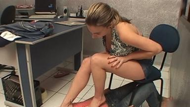 FOOT FETISH / Dangerous Feet - Cyntia And Slave Gaby