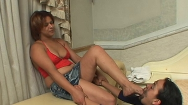 FOOT FETISH / Dirty Feet - Celine And Slave Carioca