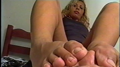 FOOT FETISH / Feet Smother - Mistress Magali And Slave Clotilde