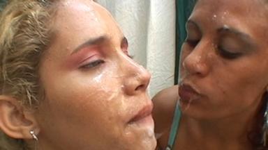 Spitting Lesbians - Alexandra, Luana Lopes And Laura