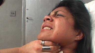 Strangle And Handsmother - Sarina And Slave Gaby