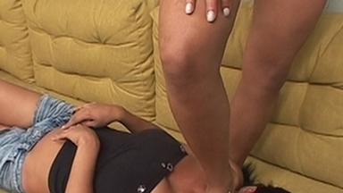 Trampling - Karina And Slave Gaby