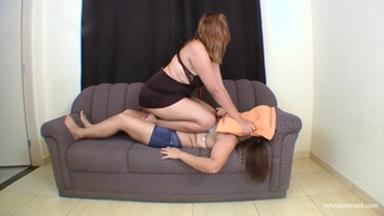 Sofa Girl Giant Tati Devassa And Ariel