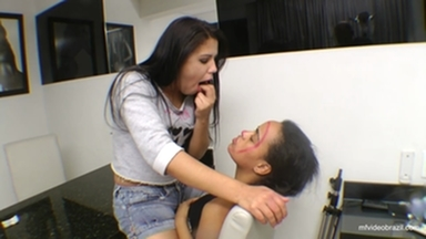 Spitting Girl - Swallow All My Spit Fucking Bitch !! By Aline Cruel And Vaninha