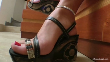 Trampling Top Model With The Perfect Feets By Lola Mello And The New Slave