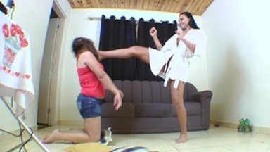 Karateka Feet Face - I Will Destroy You With My Feets Bitch ! By Kyanna Andreatti And Ariel
