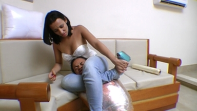 Scissor Hard Jeans and Strong Legs By Ana Giant And Vaninha