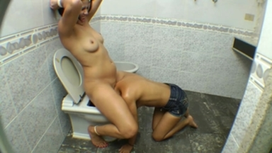 FACE SITTING / Face Sitting Fucking Face - Obey Me Or I Shove Your Face Inside The Toilett By Aline Cruel And Vaninha