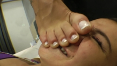 Feet Domination - The Steel Legs By Melissa Pitanga And Faby