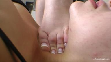 FOOT FETISH / Dangerous Big Heavy Feet By Valkiria Storm  And Paulinha Blond