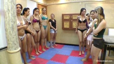 FIGHTING GIRLS / Scissor Championship By Top Girl Francesca And Aline Cruel Part 1