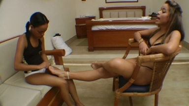 FOOT FETISH / Swallow My Feet Or I Slap Your Fucking Face By Top Model Lola Mello And Vaninha