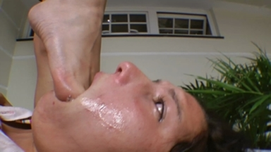 FOOT FETISH / Deep Feet Total Destroying Of Slave Mouth By Francesca And Eriquinha