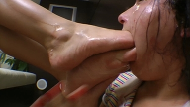 Deep Feet Total Destroying Of Slave Mouth By Francesca And Eriquinha
