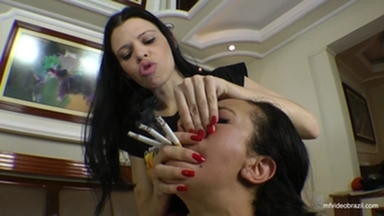 SMOTHER / Danger Hands Total Torture New Slave In Panic By Top Mistress Karina Cruel