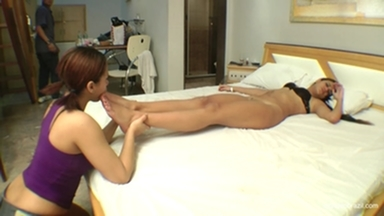 Feet Licking By Top Girl Lorena Gimenez And Vivi