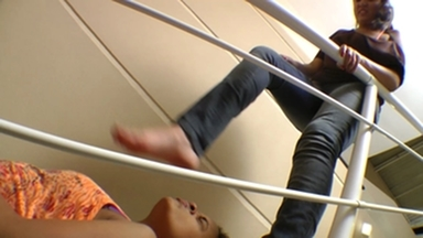 Karateka Big Feet Size Agressive And Sensational By Tati Devassa And Paulinha