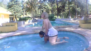 PONYGIRL / Pony Girl Swimmingpool Humiliation By Caroline Zimmerman-Ingrid Bee And Eliete