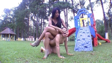 PONYGIRL / Pony Play With Muscle Girl By Maiara Lima And Wanessa Camargo