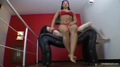 Sofa Girl Kneading  By India Mulan And Slave Sammy