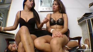 Sofa Top Dominatrix By Top Model Lola Mello And Aline Cruel