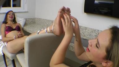 Tickling Big Soles By Jennifer Avila And Fabiane Silva