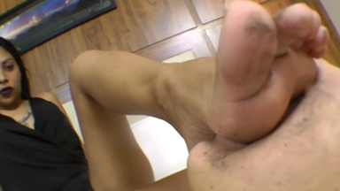 Dirty Feet Domination By Flavia Greca And Slave Lilly Pee