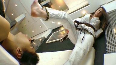 FIGHTING GIRLS /  Karateka Feet Face By Pandora Cruel And Slave Pat