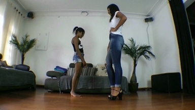 FOOT FETISH / Dangerous Big Feet Size40 By Top Giant Girl Sofia Goddess And Slave Priscillinha