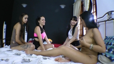 Lesbian Party By Top Milf Jennifer Ferraz And Slaves