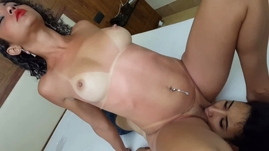 Full Service Lick By Top Girl Jennifer Avila And Slave Pat Mendes