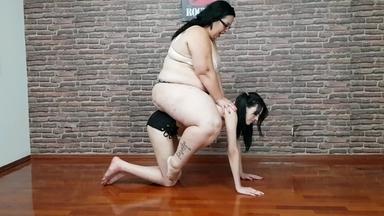Ponylay Extrem Fat Girl Renata Colossos And Her Skinny Pony