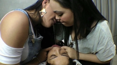 Hot Kisses And Spitting By Cacau And Kelly Silva Slave Bianca