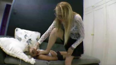 Deep Feet Two Blonde Top Girls By Daniela Block And Slave Aninha