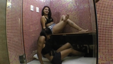 Feet Lick And Play By Fabi Costa And Slave Nicole