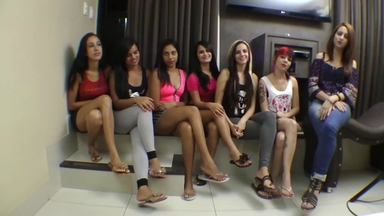 Hot Kisses Party By Top Giant Girl Marcela Campos And7 Girls- Part 1