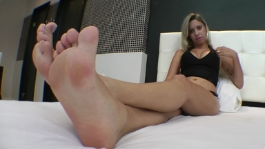 FOOT FETISH / Deep Feet Beautiful- Swallow My Amazing Feet Little Bitch By Top Babe Bruna Ressien