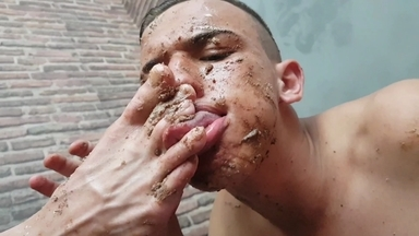 FOOT FETISH /  Dominated Boys- Eat All Cake From My Feet You Fucking Couple
