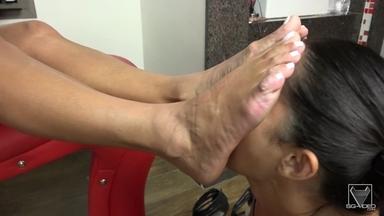 Feet Domination And Extreme Long Tongue Ass Licking - Sara Rose And Belinha