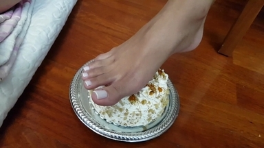 FOOT FETISH / Eat That Cake From My Amazing Feets Bitch By Top Model Taina Almeida
