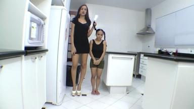 GIANT MOVIES / Giant Vs Extra Mini Girl Domination -  Ana Claudia And Mini Mi