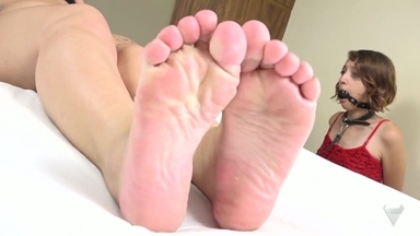 FOOT FETISH / Swallow My Feets And Lick Deep My Asshole Little Sweet Slave By Francesca And Penelope