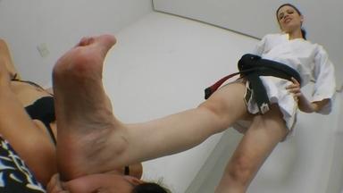 Karateka Feet Face By Karina Cruel And Slave Fabi