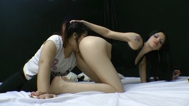 LESBIAN / Lesbian Domination By Mistress Karina Cruel And Slave Bruninha