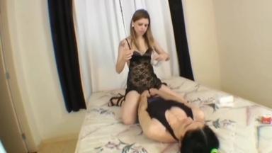 LESBIAN / Lesbian Domination And Bondage By Karina Cruel And Slave Suzana Orion